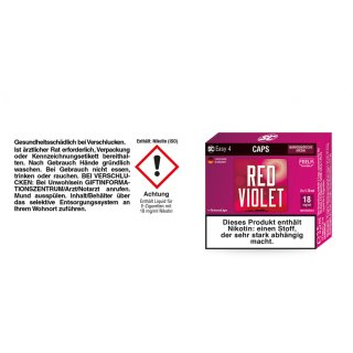 SC Easy 4 Caps Red Violet Amarenakirsche 18 mg/ml (2 Stück pro Packung)